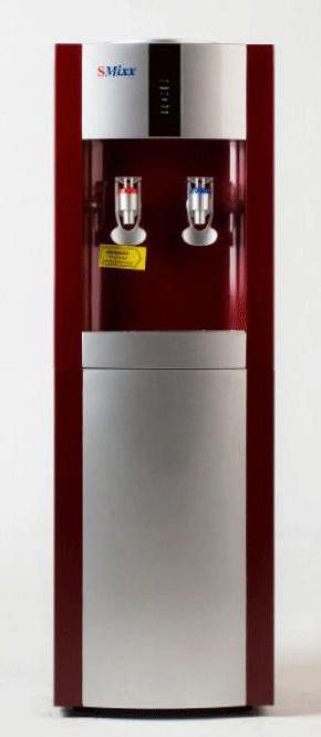 SMixx 16L/E, Red Silver кулер для воды16L/E Red SilverАккуратный напольный кулер для воды SMixx 16L/E с верхней загрузкой бутыли, системой нагрева икомпрессорным охлаждением. Вода польется при нажатии на кран.Нагрев - не меньше 5 литров в час до температуры +90°С (мощность 550 Вт, бак объемом 1,5 литра) Охлаждение - 2 литра в час до температуры +7°С (мощность 112 Вт, бак объемом 3 литра).