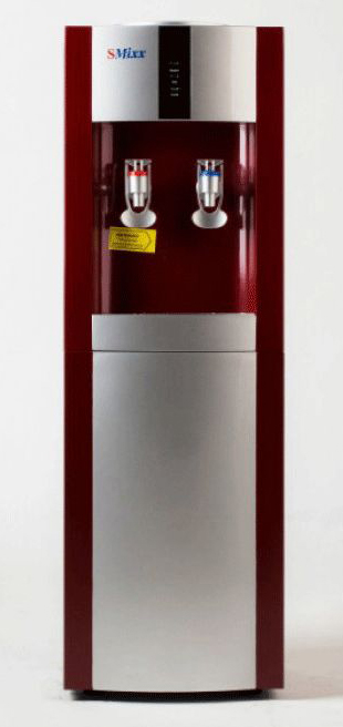 SMixx 16LD/E, Red Silver кулер для воды16LD/E Red SilverАккуратный напольный кулер для воды SMixx 16LD/E с верхней загрузкой бутыли, системой нагрева иэлектронным охлаждением. Корпус выполнен из прочного пластика. Вода польется при нажатии на кран.Нагрев - не меньше 5 литров в час до температуры +90°С (мощность 550 Вт, бак объемом 1,5 литра) Охлаждение - 1 литр в час до температуры +12°С (мощность 70 Вт, бак объемом 3 литра).
