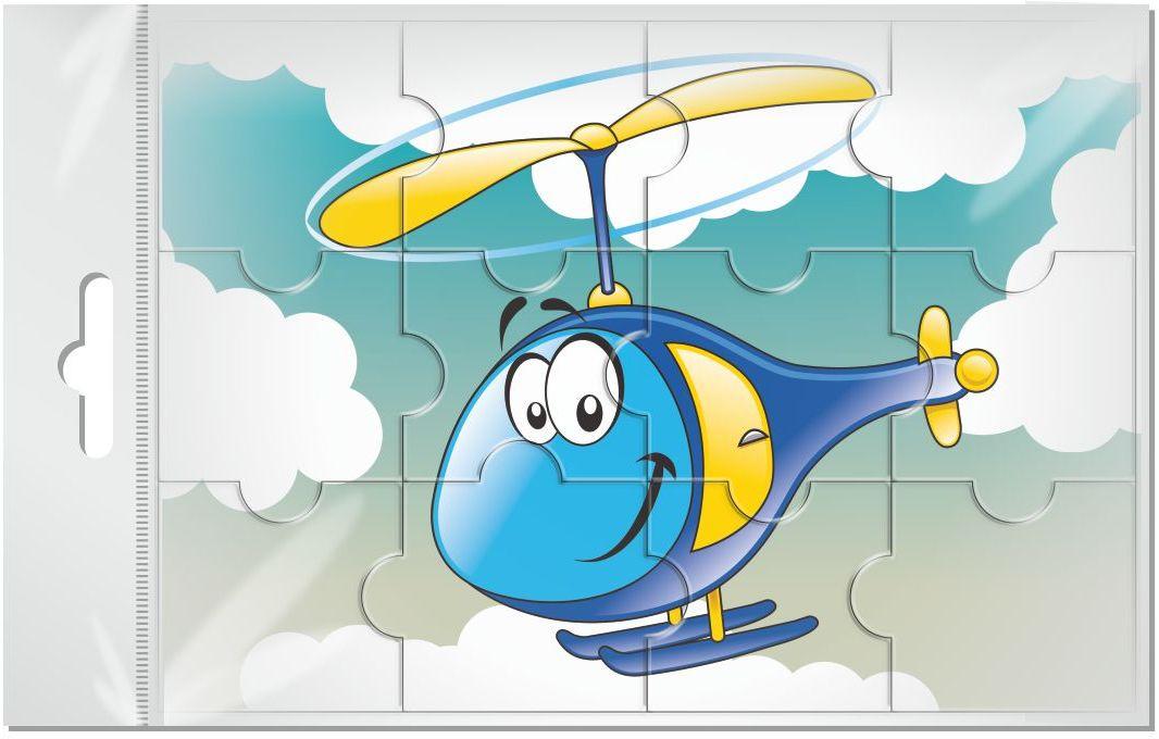 Издательская группа Квадра Пазл для малышей магнитный Вертолет 12 элементов флексика пазл для малышей геометрия цвет основы красный