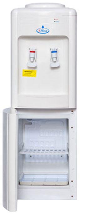 SMixx 08 L, White кулер для воды08 L WhiteАккуратный напольный кулер для воды SMixx 08 L с верхней загрузкой бутыли, системой нагрева икомпрессорным охлаждением. Корпус выполнен из прочного пластика. Вода польется при нажатии на кран. Внизу имеется шкафчик для хранениястаканов.Нагрев - не меньше 5 литров в час до температуры +90°С (мощность 550 Вт) Охлаждение - 2 литра в час до температуры +10°С (мощность 90 Вт).