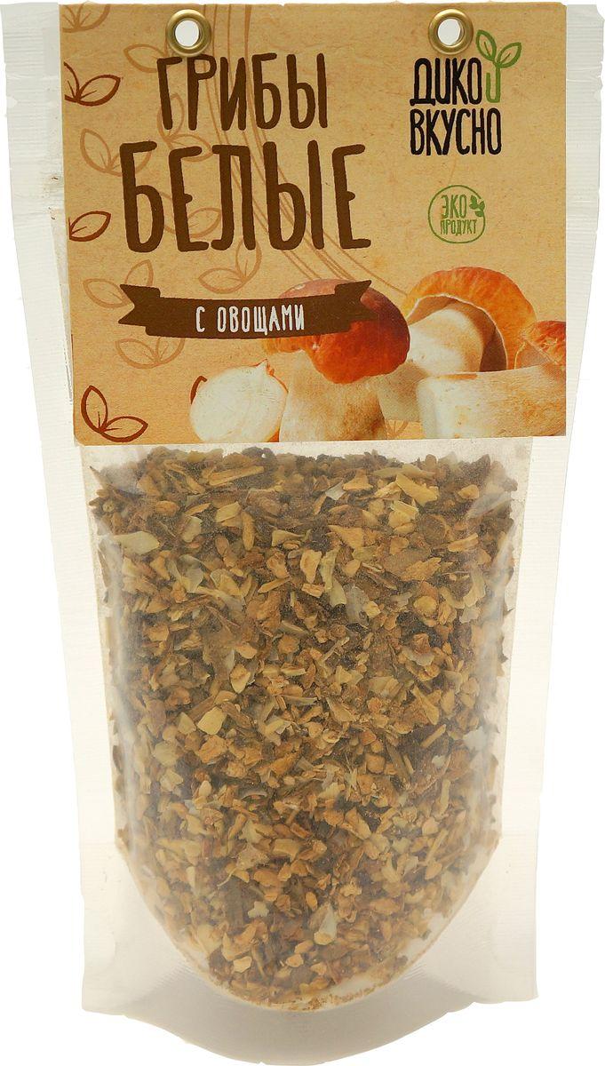 Приправа из измельченных белых грибов с овощами - это прекрасная основа для вкусных домашних соусов и очень удобная добавка к любым супам и гарнирам. Сушеные грибы сохраняют большинство полезных веществ, вкус и аромат на протяжении длительного времени и в таком виде очень легко готовятся и усваиваются.