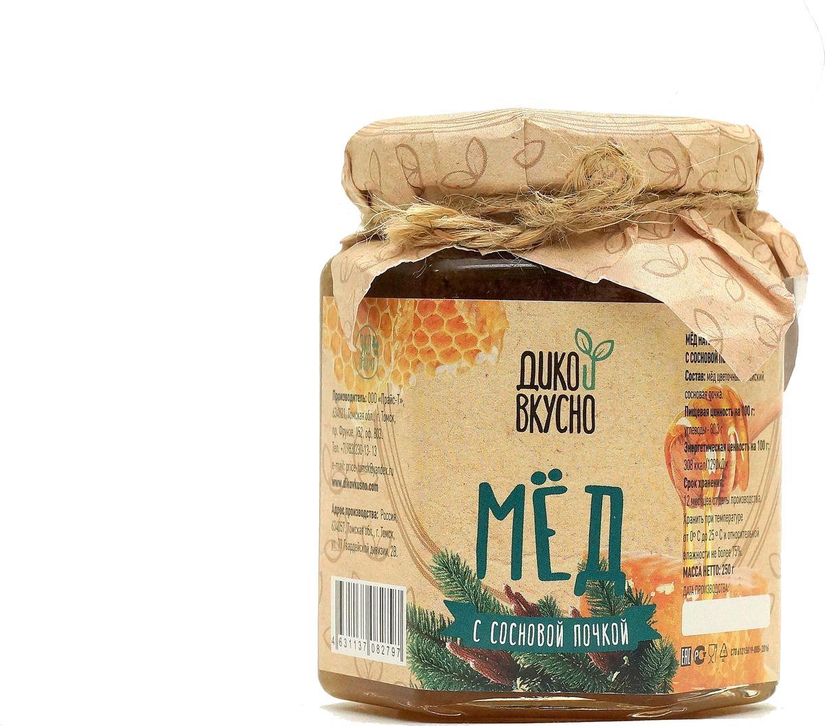Дико Вкусно Мед натуральный с сосновой почкой, 250 г вкусно