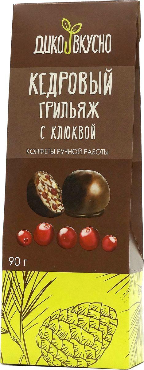 Дико Вкусно Грильяж кедровый с клюквой в шоколадной глазури, 90 г пудовъ ржаной хлеб с клюквой и анисом 500 г