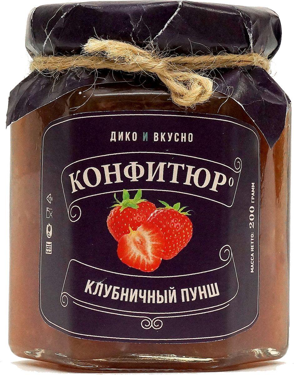 Дико Вкусно Конфитюр клубничный пунш, 200 г дико вкусно соус ягодный брусника с перцем чили 200 г