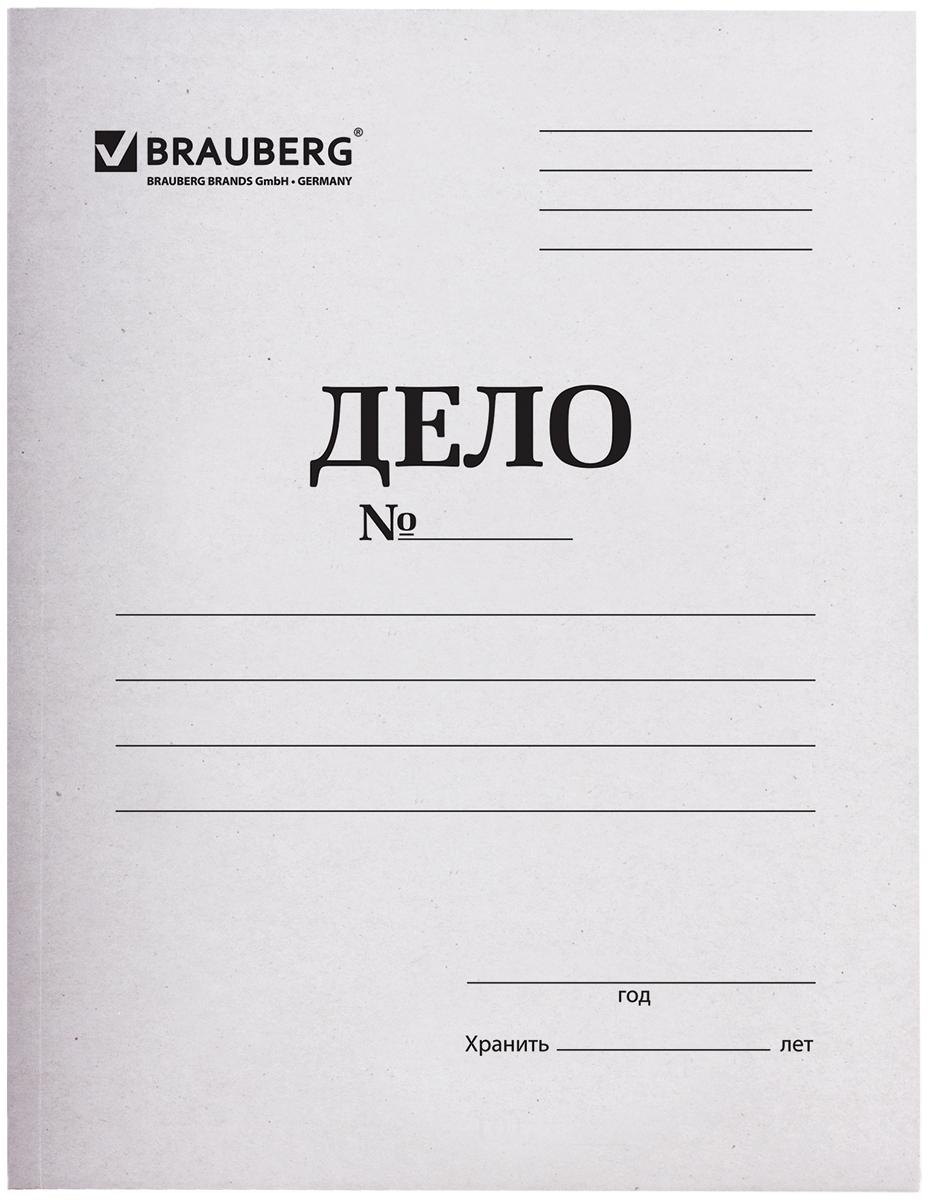 Brauberg Скоросшиватель цвет белый 126524126524Картонная папка с металлическим скоросшивателем идеально подойдет для хранения документов.