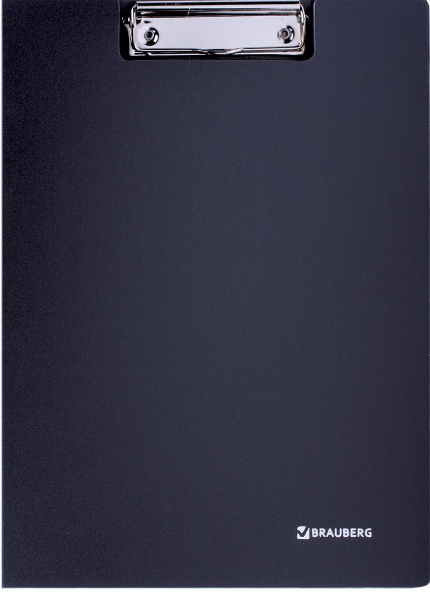 Brauberg Папка-планшет Стандарт цвет черный 221646221646Папка-планшет из жесткого пластика, что позволяет делать записи на весу. Верхний зажим фиксирует до 50 листов формата А4.Удобна в подготовке и хранении текстов выступлений, докладов.
