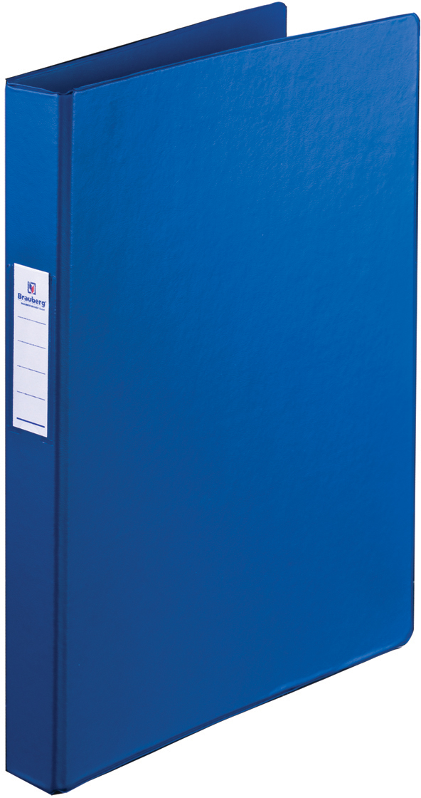 Brauberg Папка цвет синий 223187223187Папка с надежным металлическим пружинным скоросшивателем предназначена для хранения перфорированных документов. Изготовлена из высококачественного картона.