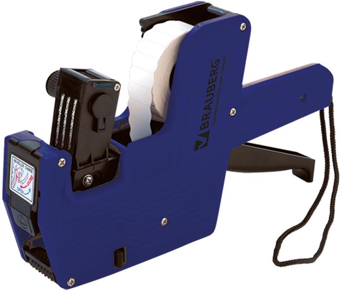 Brauberg Этикет-пистолет 1 строка 8 символов 22 х 12 мм290436Для нанесения на этикетки цифр и символов (руб, $, Евро, kg). Изготовлен из качественного пластика, выдерживающего низкие температурные условия и интенсивную эксплуатацию. Снабжен высококачественным красящим роликом, не смазывающим чернила при печати.