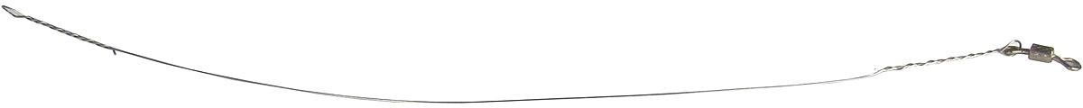 Поводок Точка Лова, стальной, с вертлюгом, 6 шт. СТРУНА-12-15