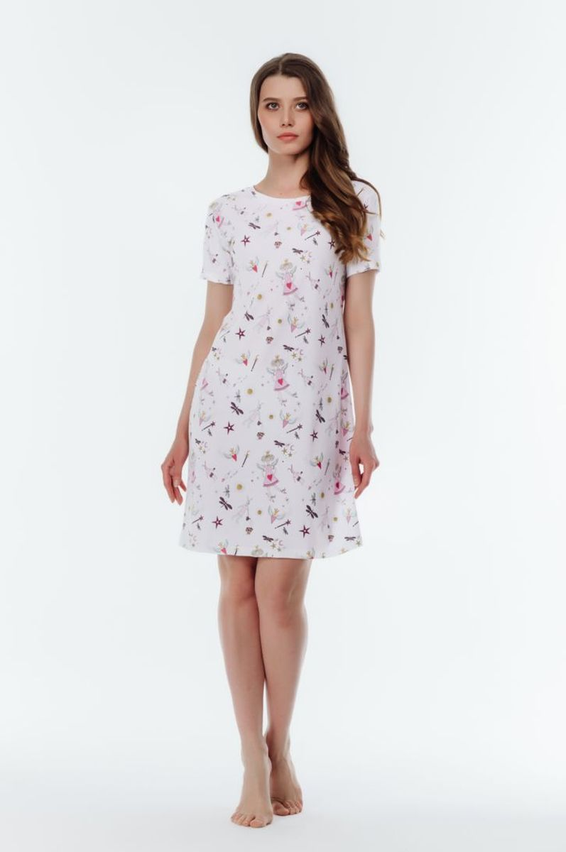 Платье домашнее Melado Tuilde, цвет: белый. 8108P-60011.1S-090. Размер 52 платье домашнее melado вивьен цвет бежевый ml2170 01 размер 48