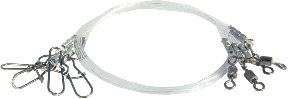 Поводок Точка Лова, флюорокарбоновый, 5 шт. ПФ-11-15ТЛПФ-11-15ТЛПоводки Точка Лова из Флюорокарбона устойчивы к истиранию, механическим повреждениям, и практически не приметны для рыбы за счет коэффициента преломления как у воды.