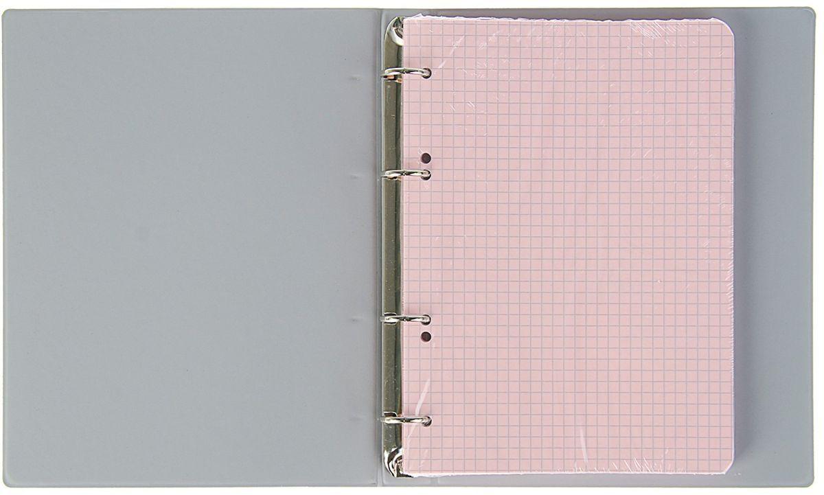 Calligrata представляет широкий ассортимент товаров для учеников, студентов, офисных сотрудников и руководителей, а также товары для  творчества.  Тетрадь со сменным блоком состоит из 100 листов в клетку. На листах нет полей.  Крепление - кольца. Формат тетради: А5.