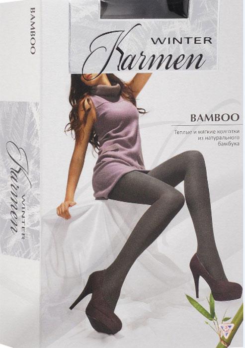 Колготки теплые Karmen Winter Bamboo, цвет: черный (Nero). Размер 4 larsen karmen