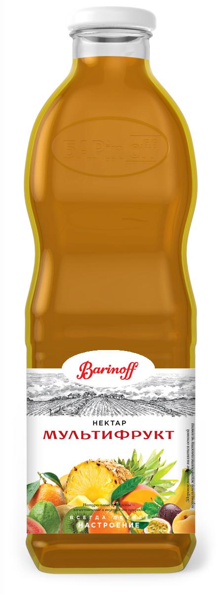Barinoff Нектар Мультифрукт с мякотью, 1 л фруктовые чипсы fitfruits груша 20 г