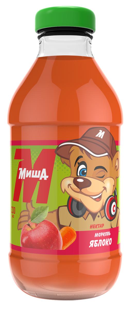 Миша Нектар Морковь-яблоко, 0,33 л настольные игры 1toy настольная игра 7 в 1