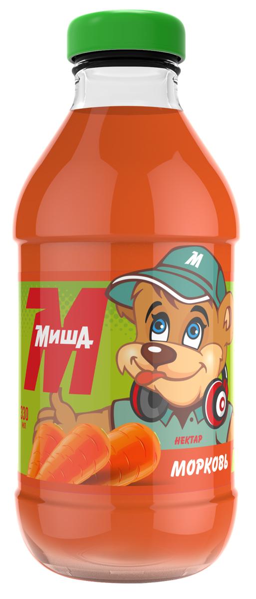 Миша Нектар Морковный, 0,33 л миша нектар морковь яблоко персик 0 33 л