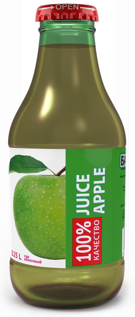 Barinoff Сок Яблочный, 0,25 л сок granini яблочный 1л