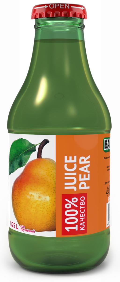Barinoff Сок Грушевый с мякотью, 0,25 л сок агуша яблоко и персик с мякотью с 3 лет 500 мл