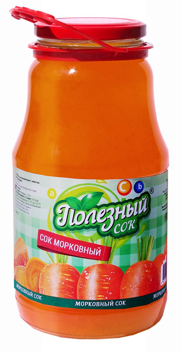 Полезный Сок Морковный с мякотью, 1,8 л сок мята