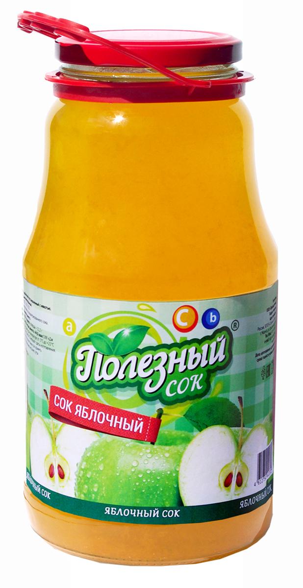 Полезный Сок Яблочный с мякотью, 1,8 л о сок яблочный о 2л