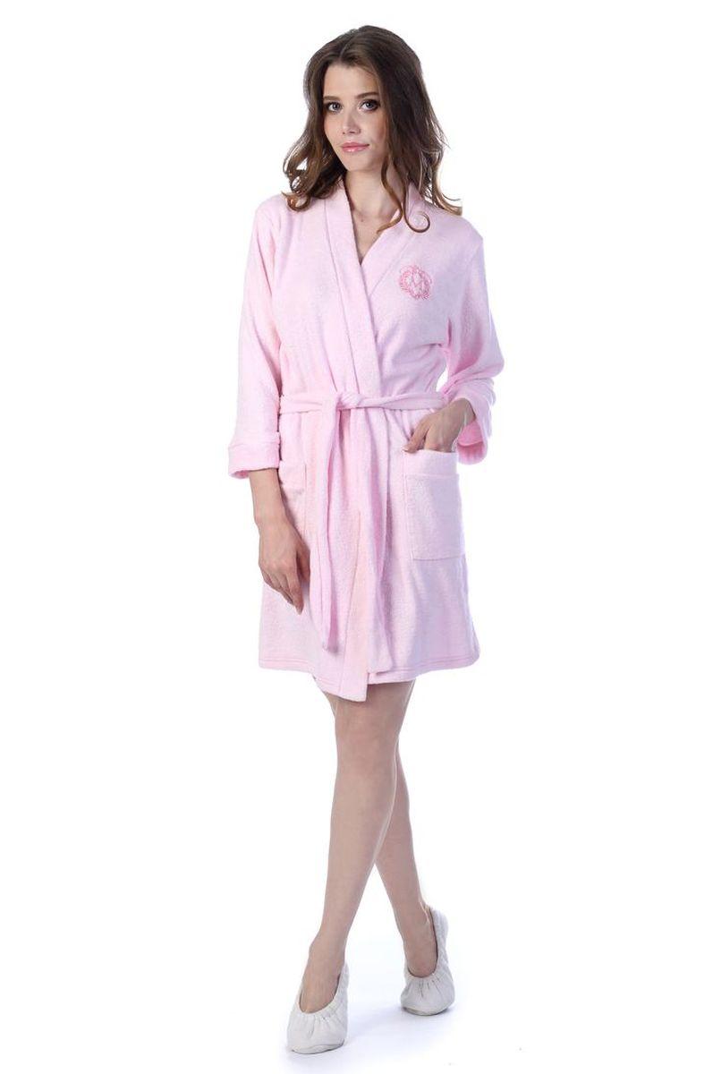 Халат женский Melado База, цвет: розовый. MM2586/02. Размер 52 халат женский melado пейсли цвет розовый 8102l 75002 1s 051 размер 52