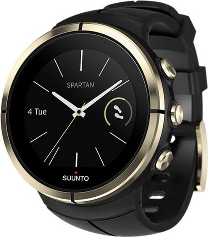 Спортивные часы Suunto Spartan Ultra Gold Special EditionSS023303000Suunto Spartan Ultra — это продвинутые GPS-часы для мультиспорта с цветным сенсорным экраном, водонепроницаемостью до 100 м (300 фт.) и до 26 ч работы батареи в режиме тренировки. Компас и барометрическая высота с FusedAlti позволяют никогда не сбиться с пути. 80 предустановленных спортивных режимов и конкретные показатели по видам спорта делают Spartan Ultra вашим оптимальным партнером для тренировок. Отслеживайте достижения и личные рекорды. Оптимизируйте тренировки, опираясь на анализ данных сообщества. Открывайте новые маршруты в Suunto Movescount с помощью тепловых карт, пусть часы ведут вас по маршруту. Часы Spartan Ultra созданы вручную в Финляндии и спроектированы с прицелом на надежность в любых условиях.ВЫДЕРЖАТ ЛЮБЫЕ ПРИКЛЮЧЕНИЯ Водонепроницаемость до глубины 100 м / 300 фт 18 часов работы от батареи в режиме максимальной мощности при фиксированном интервале опроса GPS (1 с) для наиболее точной GPS-навигации До 140 ч работы батареи с настройками энергоэффективности Защищенный цветной сенсорный экран с тремя кнопками GPS/GLONASS для навигации по маршруту и определения расположения следование маршруту в реальном времени с маршрутом, точками POI и расчетным временем ETA GPS используется для отслеживания набора или снижения высоты в тренировке Алгоритм FusedAlti использует данные GPS и барометрическую высоту для более точной оценки высоты Штормовое предупреждение Время восхода/захода солнца Цифровой компас с компенсацией склонения ОПЫТ СПОРТИВНЫХ ДОСТИЖЕНИЙ Измерение частоты сердцебиения, оценка потраченных калорий, максимальной эффективности тренировки и времени восстановления Поддержка более 80 видов спорта в режимах соревнований и интервальной тренировки Режим триатлона и мультиспорта Настройка интервальных тренировок на часахПульсовые зоны на часах Бег: таблица пройденных этапов со сведениями о темпе бега и частоте сердцебиения; точное измерение темпа с технологией FusedSpeed поддержка да