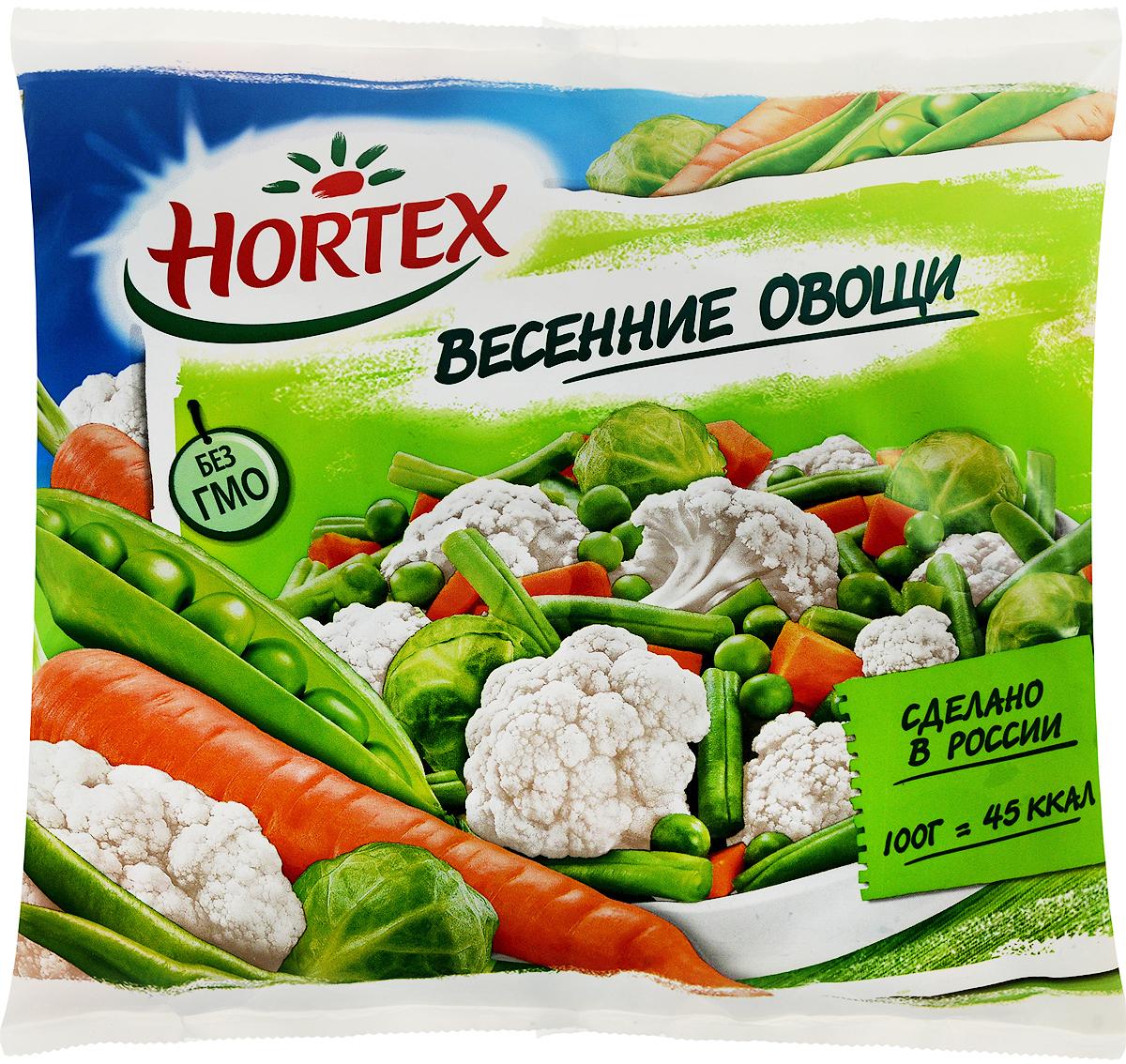 Hortex Весенние овощи, 400 г4607191650241Овощная смесь Hortex весенние овощи собрала гамму овощей, взаимодополняющих друг друга. Стручковая фасоль и зеленый горошек обеспечивают организм высококачественным белком, придают сил и энергии на долгое время. Цветная капуста и морковка прогоняют плохое настроение.Такая овощная смесь подходит для супов, на гарнир к мясу, к любой рыбе, для ризотто, омлета с овощами, овощной запеканки (calorizator). Овощная смесь готовится около десяти минут. Яркое, веселое сочетание овощей в готовом блюде, поднимает аппетит деткам. На детской тарелке мама выкладывает человечка со смешной рожицей из овощей, и любимая детка покушала без лишних уговоров.Пищевая ценность на 100 г: Белки: 2,8 г.Жиры: 0,3 г.Углеводы: 3,9 г.Калорийность: 45 кКал.