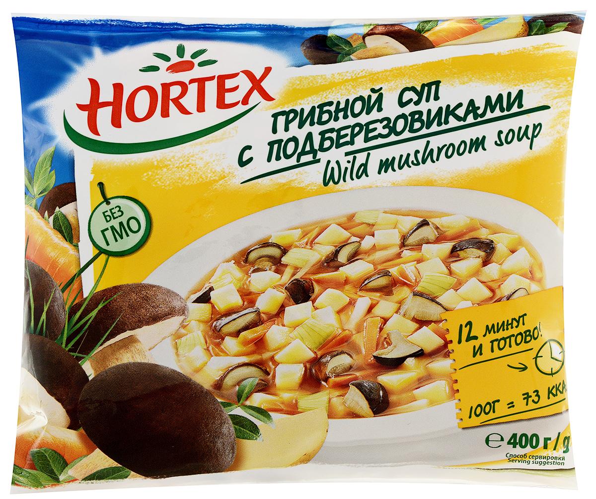 Hortex Суп Грибной с подберезовиками, 400 г5900477011491Суп Hortex с подберезовиками - оригинальное блюдо, которое непременно понравится вашим домочадцам. Правильно подобранный состав делает его источником полезных элементов. В состав супа входит также картофель, обеспечивающий наш организм нужным количеством такого полезного сложного углевода, как крахмал. Помимо этого, в картофеле содержится довольно большое количество минеральных солей и витаминов.Невероятно полезными компонентами, содержащимися в супе, являются также сельдерей и петрушка. Помимо невероятно приятного аромата и вкуса, они дарят нам большое количество полезнейших веществ (цинк, магний, железо, калий), а также восполняют запас практически всех витаминов.Грибной суп Hortex - это прекрасное блюдо, которое непременно придется по вкусу даже самым требовательным гурманам.Пищевая ценность 100 г: белки - 1,7г, углеводы - 8,4г, жиры - 0,3 г.Энергетическая ценность: 48 ккал.Повторно не замораживать.Хранить при Т -18C.