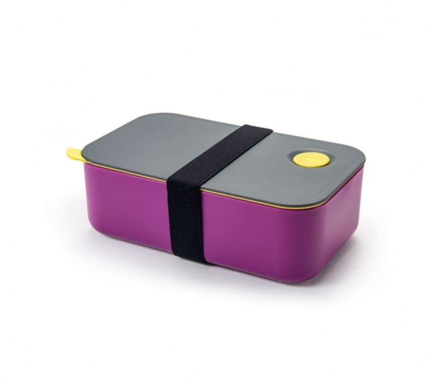 """Здоровое питание стало доступнее, домашний обед из двух блюд в одном ланч-боксе """"Bradex""""!  Преимущества: - Плотно прилегающая силиконовая крышка; - Удобный съемный разделитель; - Эластичный ремешок для предотвращения открывания контейнера в сумке; - Может использоваться для разогрева пищи в микроволновой печи; - Подходит для хранения продуктов в холодильнике и морозильной камере."""