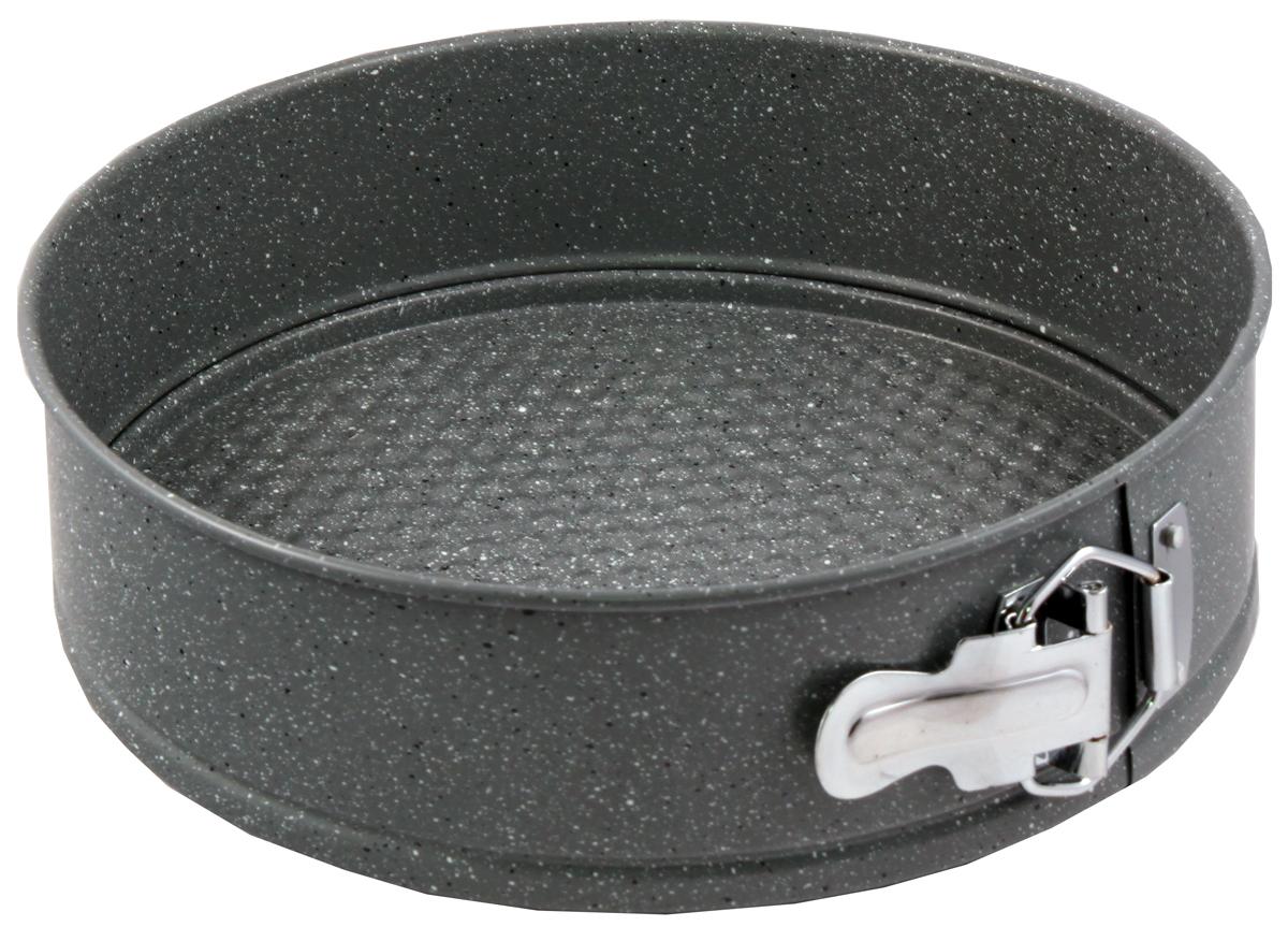 Форма для выпечки Appetite, разъемная, с антипригарным мраморным покрытием, диаметр 26 см4690510067479Форма для выпечки Appetite изготовлена из углеродистой стали с антипригарным мраморным покрытием на всей поверхности. Благодаря антипригарному покрытию нет необходимости использовать подсолнечное масло - пища не пригорает и не прилипает к стенкам. Специальный разъемный механизм позволяет легко вынимать готовое блюдо, при этом сохраняется аккуратный внешний вид.Такая форма прослужит долго и обеспечит легкое и удобное приготовление выпечки.Можно использовать в мини-печи и духовке при температуре до 250°С, а также мыть в посудомоечной машине.