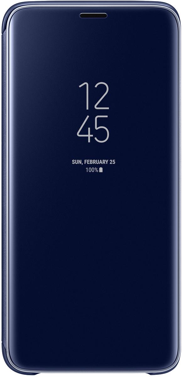 Samsung EF-ZG965 Clear View Standing чехол для Galaxy S9+, BlueEF-ZG965CLEGRUТонкий полупрозрачный чехол Samsung Clear View Standing подчеркивает стиль и изящество смартфона Galaxy S9+. Аксессуар обеспечивает быстрый доступ к функциям - следите за информацией на экране, не открывая чехла. Сквозь прозрачную верхнюю крышку видны время, пропущенные вызовы, индикатор заряда. Флип-кейс отзывчиво реагирует на прикосновения - отвечайте на звонки одним легким движением. Чехол устойчив к появлению отпечатков пальцев - ваш смартфон всегда в аккуратном состоянии. Особое покрытие чехла защищает смартфон от повреждений, продлевая срок его службы.