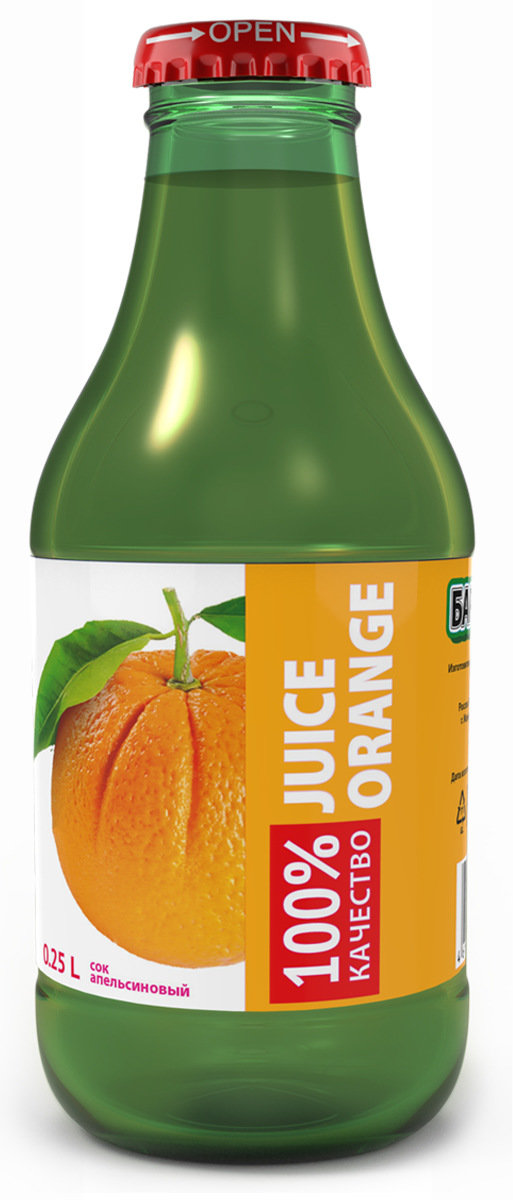 Barinoff Сок Апельсиновый с мякотью, 0,25 л поло print bar апельсиновый сок