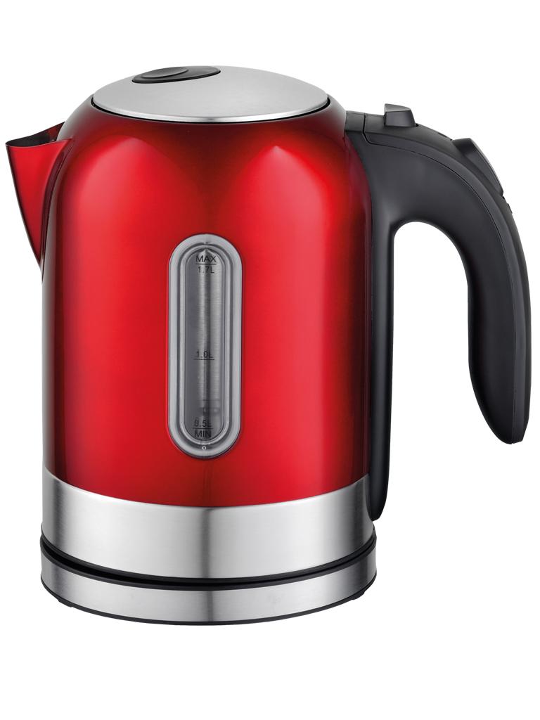 Eurostek ЕЕК-2211, Red чайник электрическийЕЕК-2211Чайник электрический Eurostek • Корпус из нержавеющей стали• Объем 1,7 л• Мощность – 2200 Вт;• Шкала уровня воды. • Дисковый нагревательный элемент из нержавеющей стали.• Световая индикация работы.• Возможность вращения чайника на подставке на 360°• Автоматическое отключение при закипании и при недостаточном количестве воды.