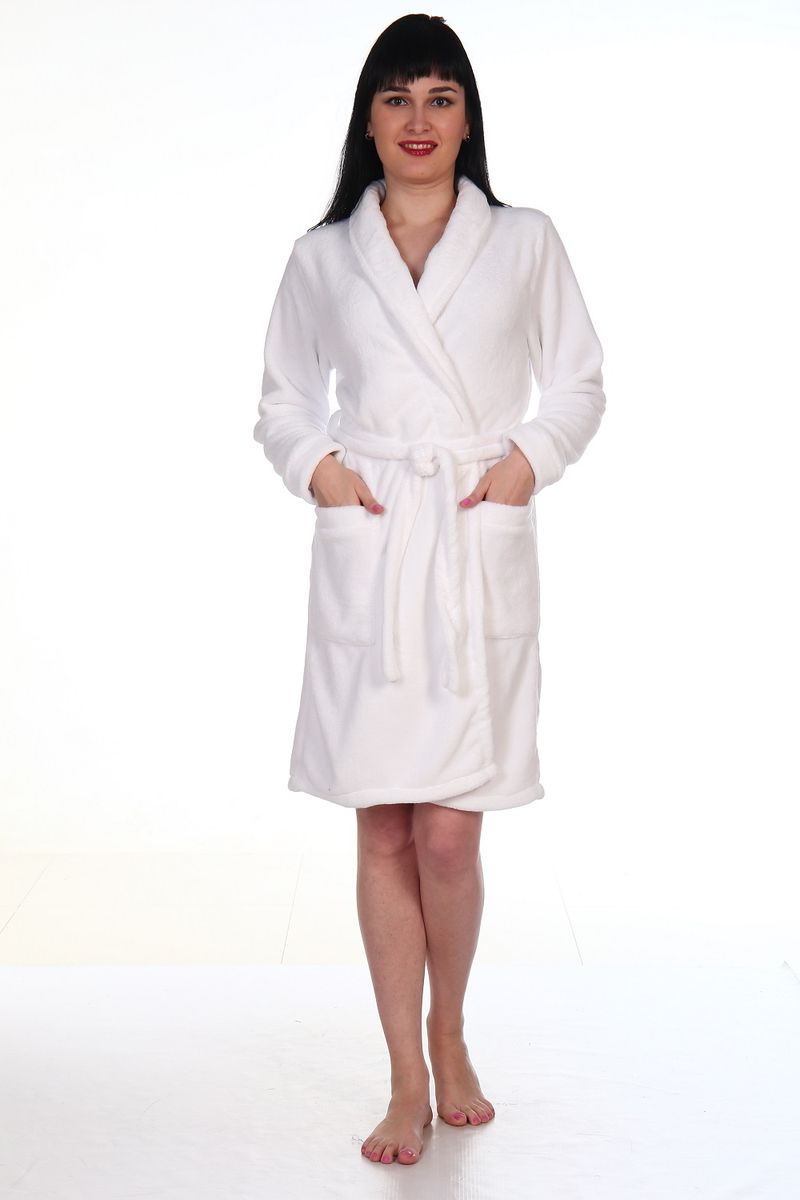Халат женский Amo La Vita, цвет: белый. ХВ07. Размер 50