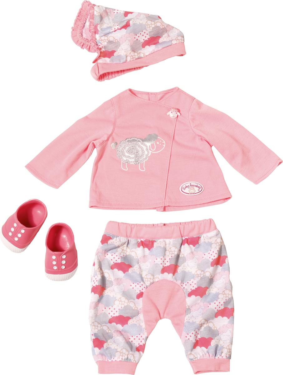 Zapf Creation Одежда для куклы Baby Annabell для уютного вечера куклы и одежда для кукол zapf creation baby annabell памперсы 5 штук