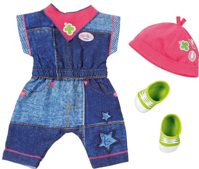 Zapf Creation Одежда для куклы BABY born Джинсовая коллекция lovely striped baby girl одежда мальчик одежда брюки костюм малыш детские наряды одежда для ребенка