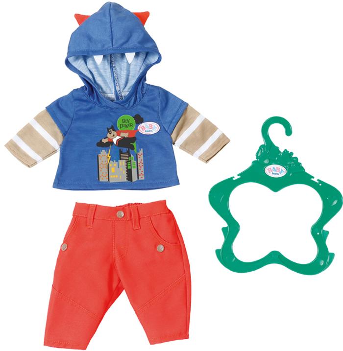 Zapf Creation Одежда для куклы BABY born 824-535 zapf creation одежда стильная для мальчика синие штаны baby born
