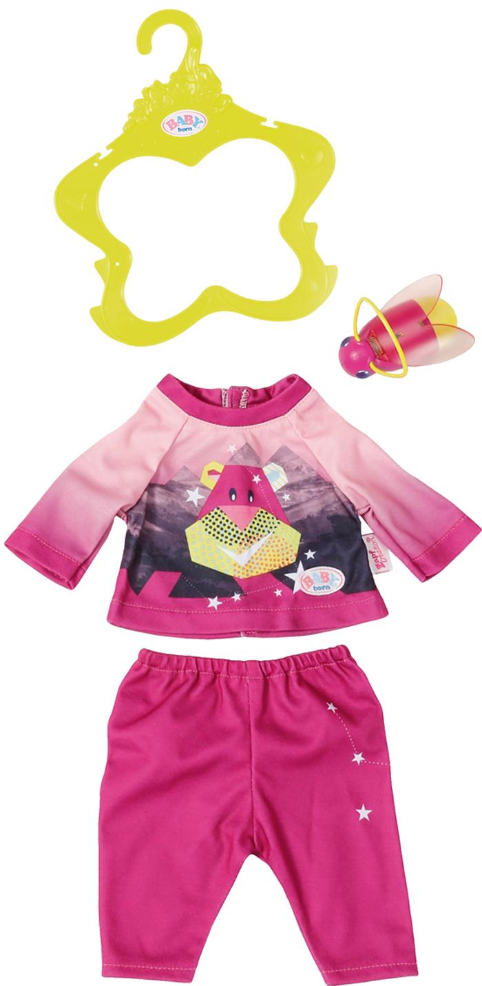 Zapf Creation Одежда для куклы BABY born Удобный костюмчик и светлячок-ночник lovely striped baby girl одежда мальчик одежда брюки костюм малыш детские наряды одежда для ребенка