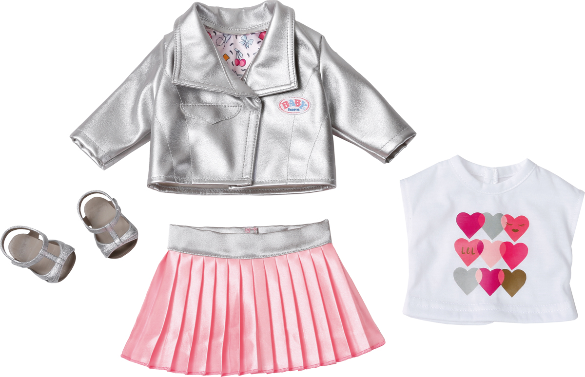 Zapf Creation Одежда для куклы BABY born Законодательница моды lovely striped baby girl одежда мальчик одежда брюки костюм малыш детские наряды одежда для ребенка