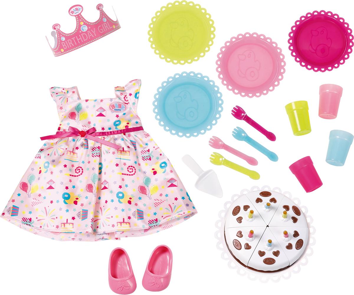 Zapf Creation Игровой набор для празднования Дня рождения BABY born кукла zapf creation baby born набор для празднования дня рождения 825 242