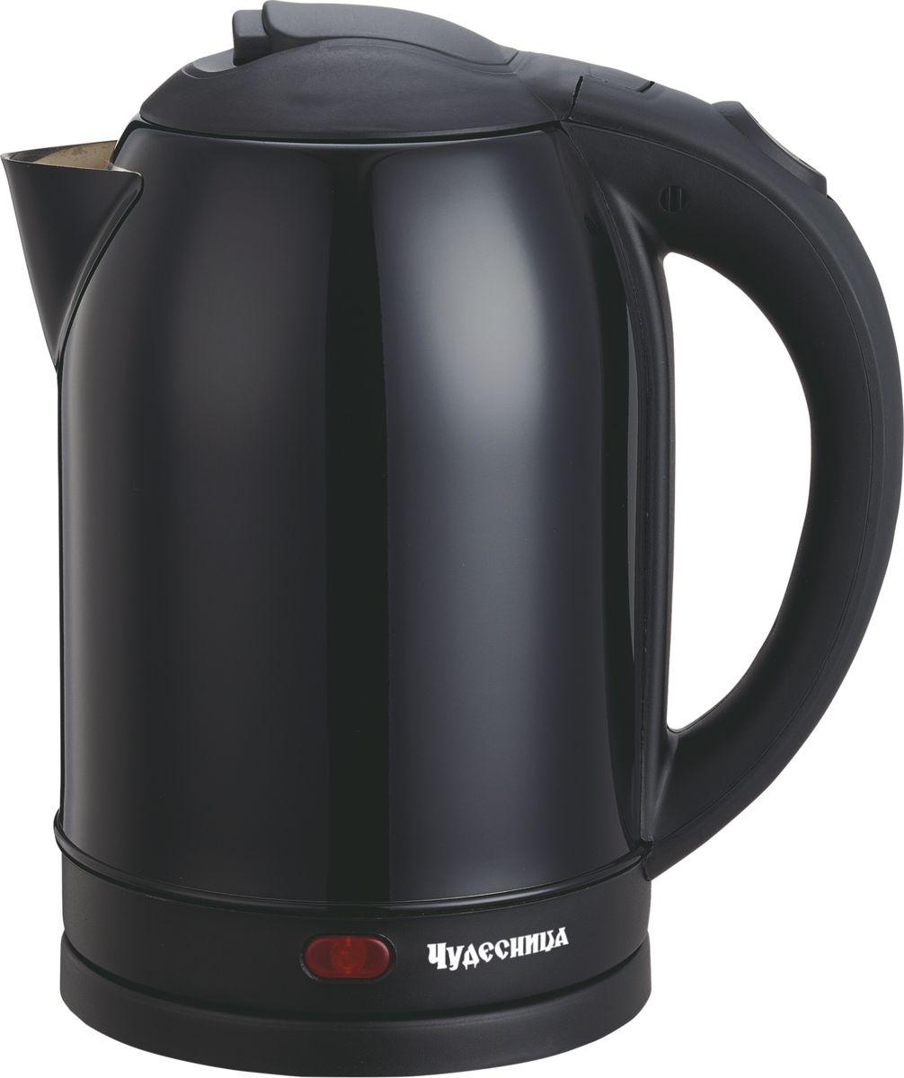Чудесница ЭЧ-2026, Black чайник электрическийЭЧ-2026Электрический чайник Чудесница. Объем 2л, мощность: 1800 Вт, диск, световая индикация работы, двойной контроллер, автоматическое отключение при закипании, автоматическое отключение без воды, вращение на подставке на 360 градусов