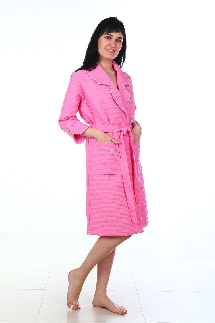 Купить Халат женский Amo La Vita, цвет: розовый. ХВХ0505. Размер 48