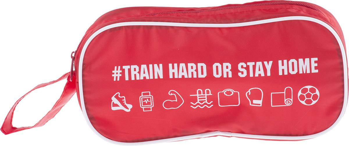 Косметичка для спорта Homsu Train Hard, цвет: красный мужская одежда для спорта