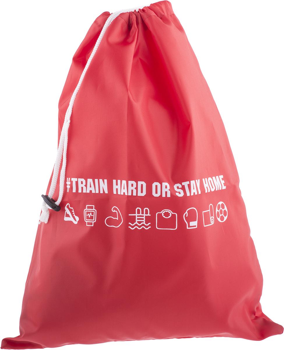 Сумка для спорта Homsu Train Hard, цвет: красный абонемент в фитнес клуб зебра мытищи