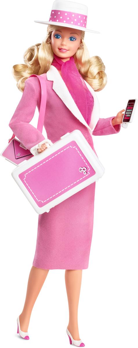 Barbie Кукла Ретро репродукция в сменном наряде для работы и вечеринки