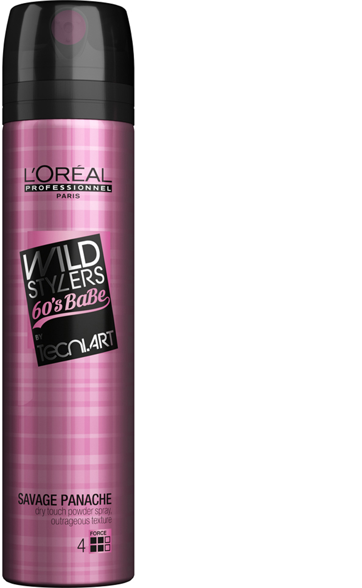 L'Oreal Professionnel Сухой спрей  пудровой текстурой Tecni Art French Girl Hair Savage Panache, (фикс. 4), 250 мл