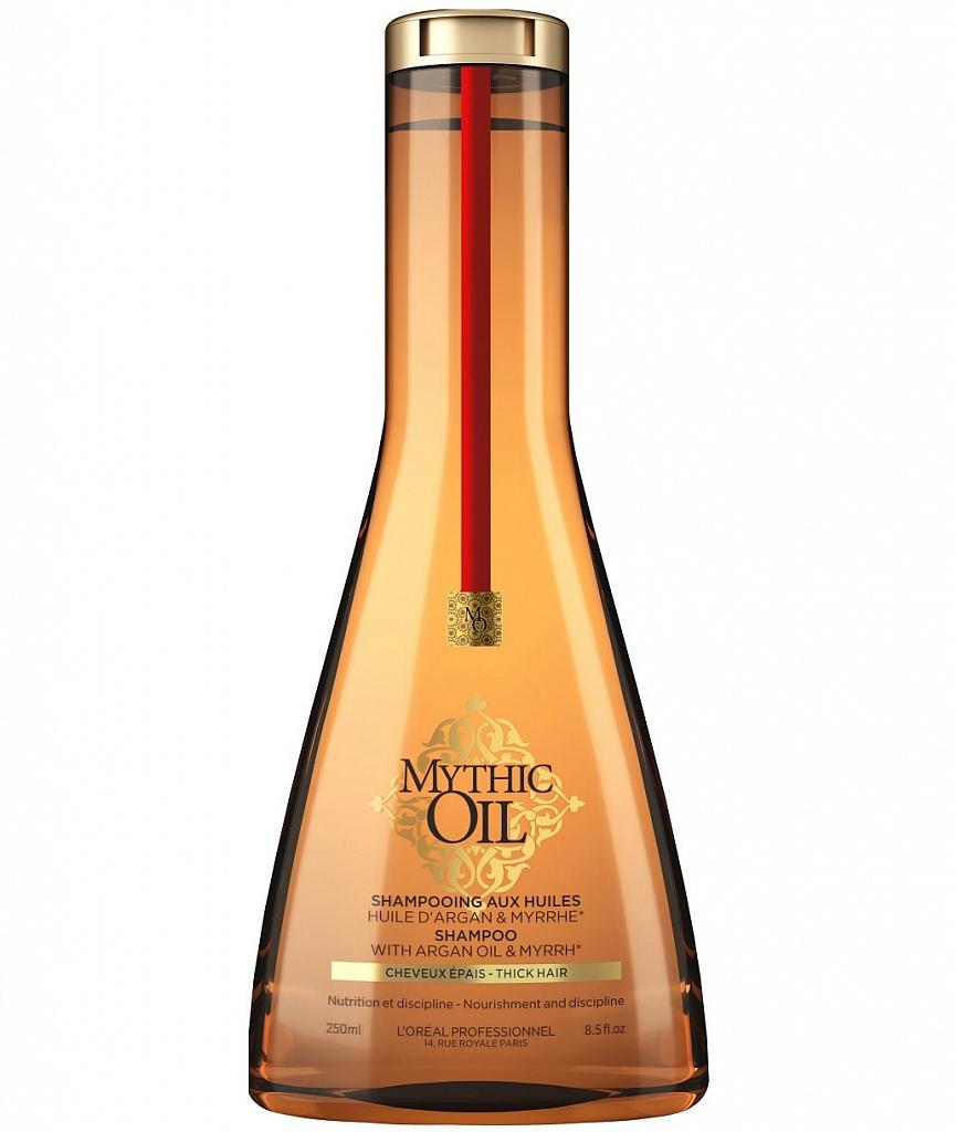 L'Oreal Professionnel Shampoo for Thick Hair Шампунь для плотных волос Mythic Oil, 250 мл l oreal professionnel homme уплотняющий шампунь уход от выпадения волос файбербуст fiberboost shampoo 250 мл