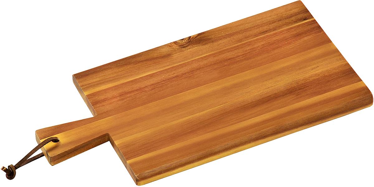 """Разделочная доска """"Kesper"""" изготовлена из дерева акации. Акация считается самым твердым деревом. Поэтому изделия из акации являются прочными. Доска оснащена ручкой для более удобного использования.Функциональная и простая в использовании, разделочная доска """"Kesper"""" прекрасно впишется в интерьер любой кухни и прослужит вам долгие годы."""