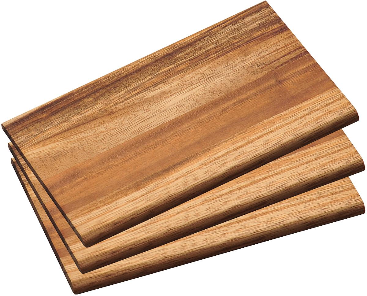 Набор разделочных досок Kesper, цвет: коричневый, 3 шт kesper ваза kesper 1783 3 0lyvm3m