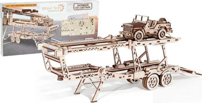 Wood Trick Механический 3D-пазл Прицеп Автовоз